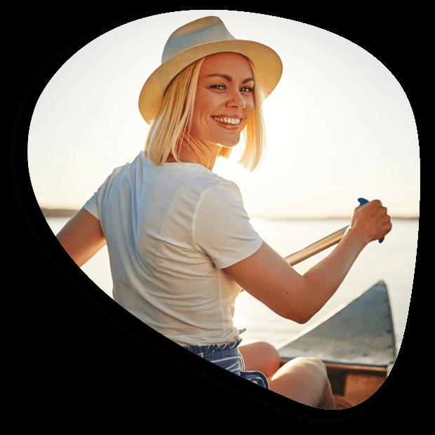 Woman Canoeing